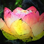 Lotus Fresco Art Print