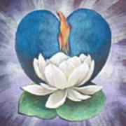 Lotus Heart Light Art Print