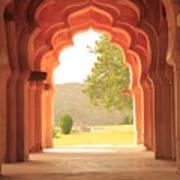 Lotus Mahal Art Print