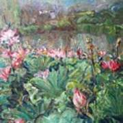 Lotus Pond-3 Art Print