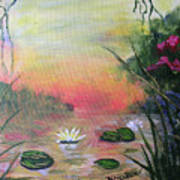 Lotus Pond Fantasy Art Print