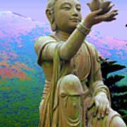Lotus Statue Art Print