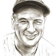 Lou Gehrig Art Print