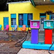 Loud Gas Pumps Art Print