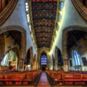Loughborough Church - Nave Vertorama Art Print