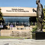 Louis Armstrong Bronze - Mahalla Jackson Theater - New Orleans Art Print