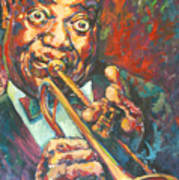 Louis Armstrong Art Print by Tachi Pintor