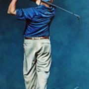 Louis Osthuizen Open Champion 2010 Art Print