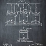 Louis Pasteur Brewing Beer And Ale Patent 1873 Chalk Art Print