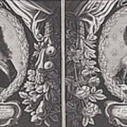 Louis Xiii And Anna D'austriche Art Print