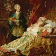 Louis Xv And Madame Dubarry Art Print