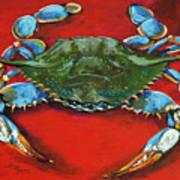 Louisiana Blue on Red Art Print