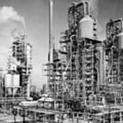 Louisiana: Oil Refinery Art Print