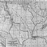 Louisiana Purchase Map Art Print