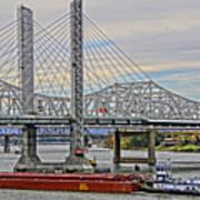 Louisville Bridges Art Print