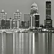 Louisville Gray Art Print