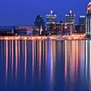 Louisville Lights Up Nicely Art Print