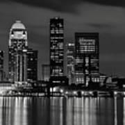 Louisville Skyline At Night 2 Art Print