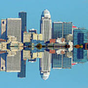 Louisville Skyline Reflection Art Print