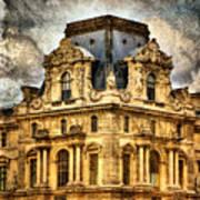 Louvre A La Grunge Art Print