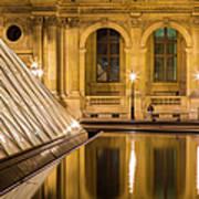 Louvre Courtyard Lamps - Paris Art Print