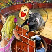 Lova Bull Art Print