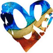 Love 6 - Heart Hearts Valentine's Day Art Print