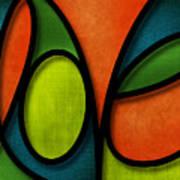 Love - Abstract Art Print