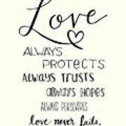 Love Always Art Print