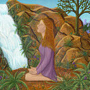 Love And Gratitude Meditation - Illustration #13 In The Infinite Song Art Print