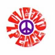 Love And Peace 14 Art Print