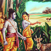 Love And Valour- Ramayana- The Divine Saga Art Print