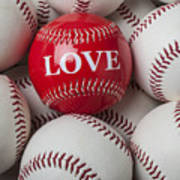 Love Baseball Art Print