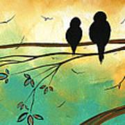 Love Birds By Madart Art Print by Megan Duncanson