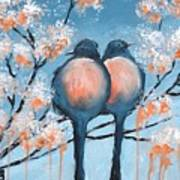 Love Birds Art Print by Holly Donohoe