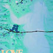 Love Birds In Blue Maternity Art Print