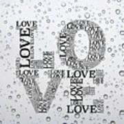 Love Droplets Art Print