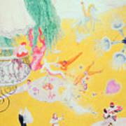 Love Flight Of A Pink Candy Heart Art Print by  Florine Stettheimer