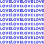 Love In Blue Neon Art Print