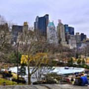 Love In Central Park Too Art Print