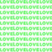 Love In Green Neon Art Print