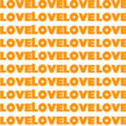 Love In Orange  Art Print