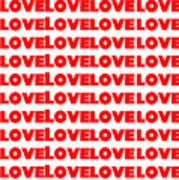 Love In Red Art Print