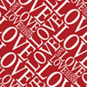 Love In Red Art Print by Michael Tompsett