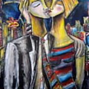 Love In The City Art Print