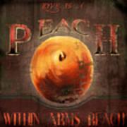 Love Is A Peach Art Print