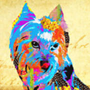 Love Is In The Dog's Eyes  Art Print