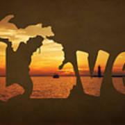 Love Lake Michigan Art Print