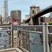 Love Locks In Brooklyn New York Art Print