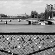 Love Locks Over The Seine Art Print